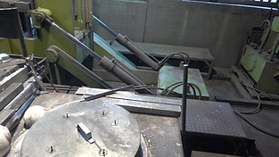 Melting operation on a gravity die casting machine