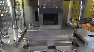 Running stamping process with blowing out