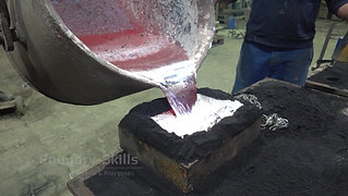 Casting in pouring tank