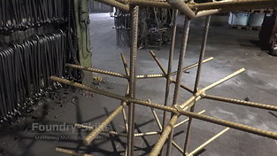 Frame of a blast cleaning chamber