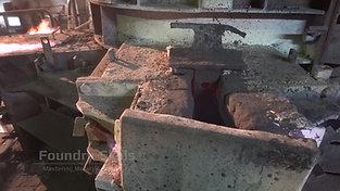 Hidden syphon area of a cupola furnace