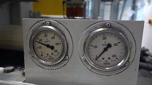 Pressure curve of a high pressure die casting machine in operation