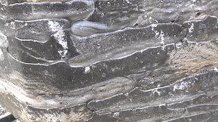 Cupola furnace slag detail view