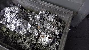 Aluminum dross in box