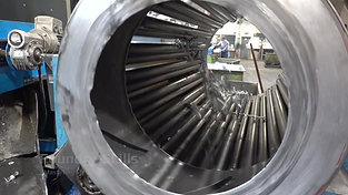 Interior view of a rotary drum separator