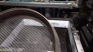 Moulding process of an air impulse press moulding machine