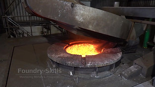 Opening the furnace lid