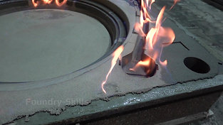 Burning down an alcohol-based coating