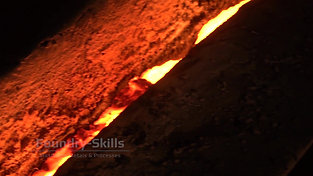 Slag on melt in the runner system of a cupola furnace