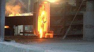 Slag drain from a cupola furnace