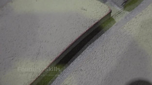 Moulded casting system in flask