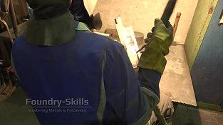 Welding of an aluminum part detail view