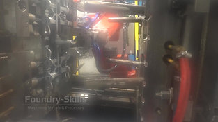 Hot chamber high pressure die casting process with robot
