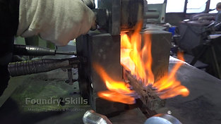 Preheating of a hand gravity die