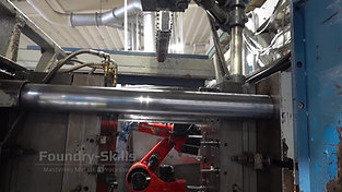 Interior view of a hot chamber high pressure die casting machine