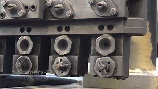 Spray nozzles detail view