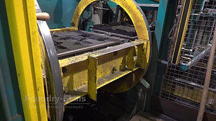 Moudling line of an air impulse press moulding plant