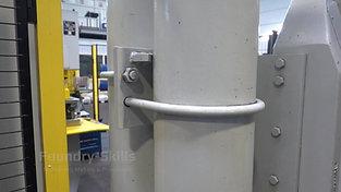Pressure accumulator of a cold chamber high pressure die casting machine