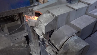 Induction furnace side view