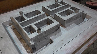 Model ready for moulding in the hand moulding shop