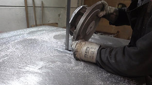 Fettling with band saw