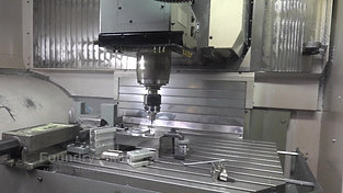 Inside view of CNC machine