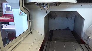 Interior of a CNC machine