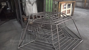 Frame for blast cleaning chamber