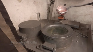 Casting of a vacuum density sample