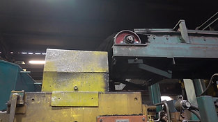 Moulding material transport in an air impulse press-moulding plant
