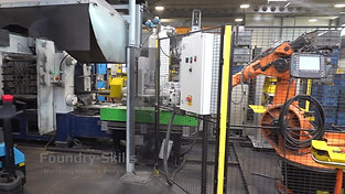 Overview casting cell with robot