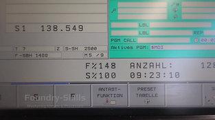 Control panel of a CNC machine