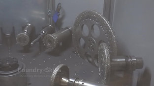 Various attachments for fettling robots