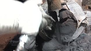 Decoring process by jackhammer