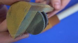 Sampling for spectrometer samples for iron melts