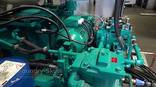 Rear side cold chamber high pressure die casting machine