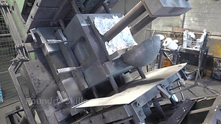Tilting of a larger gravity die casting machine