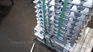 Pallet of zinc ingots