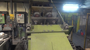 Tilt casting machine in operation