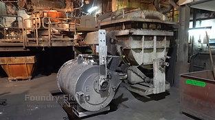 Crane transport of a transfer ladle