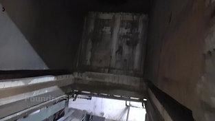 Heat treatment furnace detail view of walls