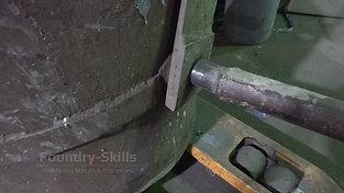Pouring ladle detail view