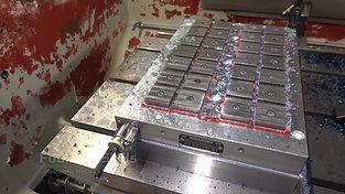 Interior of a CNC milling machine