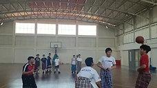 Lomba Basket 3 on 3 Pakai Sarung