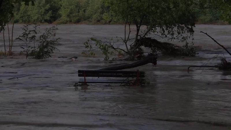 Esondazione del fiume Trebbia - Rivergaro 14 Settembre 2015