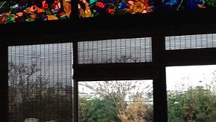 creation vitrail pour jardin d'hiver