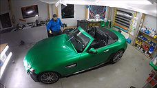 Folierung -- Wrapping Mercedes GT C AMG -- 3M Satin Green