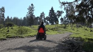 Mit dem Rolli auf Bergtour