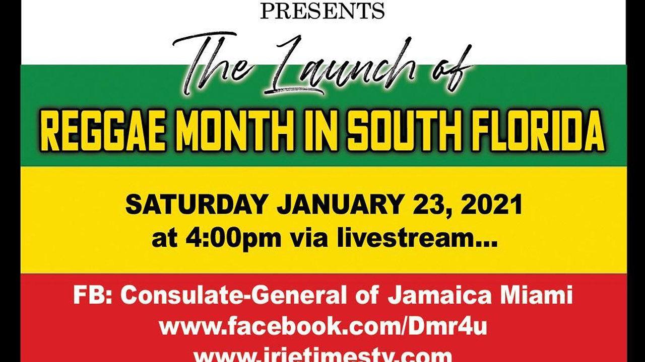 South Florida Reggae Month Launch Livestream