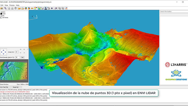Generación de DSM con ENVI Photogrammetry a partir de imágenes estéreo Worldview
